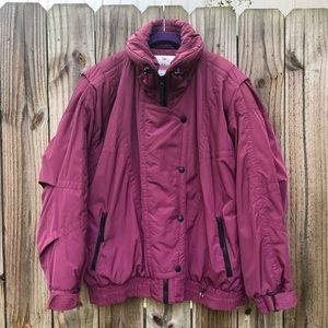 Vintage 80's Obermeyer Magenta Ski Jacket!